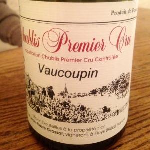 Bourgogne - Chablis Premier Cru - Domaine Corinne et Jean-Pierre Grossot - Vaucoupin - 2014