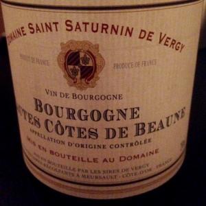 Bourgogne - Hautes Côtes de Beaune - Domaine Saint Saturnin de Vergy - 2014
