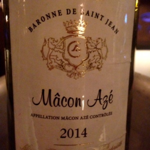 Bourgogne - Mâcon Azé - Baronne de Saint Jean - 2014