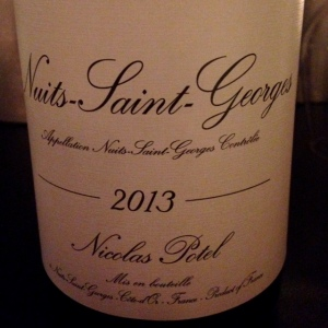 Bourgogne - Nuits Saint Georges - Nicolas Potel - 2013