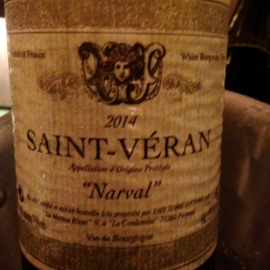 Bourgogne - Saint Veran - La Maison Bleue - Narval - 2014