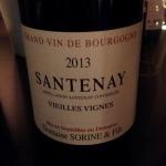 Bourgogne - Santenay - Domaine Sorine et fils - Cuvée Vieilles Vignes - 2013