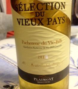 Sud-Ouest - Pacherenc du Vic-Bilh - Plaimont Vignerons - Sélection du vieux pays - 2015