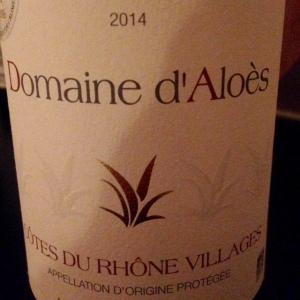 Vallée du Rhône - Côtes du Rhône Villages - Domaine d'Aloès - 2014