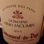 Vallée du Rhône - Châteauneuf-du-Pape - Domaine Albin Jacumin - 2014