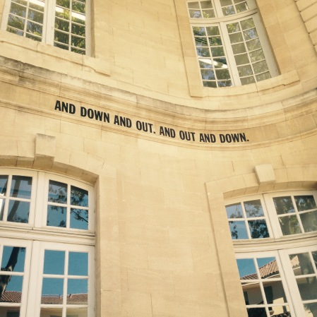 And Down and Out. And Out and Down - Lawrence Weiner