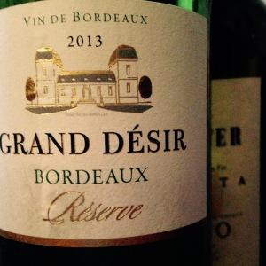 Bordelais - Bordeaux Blanc - Grand Désir - Réserve 2013