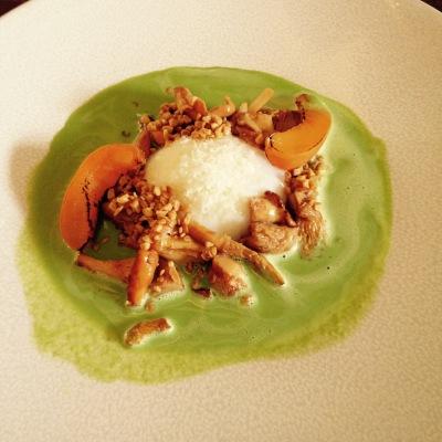 Chablis - Au fil du Zinc - Restaurant - Entrée - Oeuf mollet - abricot