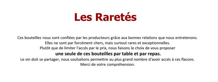 Chablis - Au fil du Zinc - Restaurant - Vins - raretés