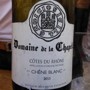 Vallée du Rhône - Côtes du Rhône - Domaine de la Chapelle - Chêne blanc - 2015 - blanc