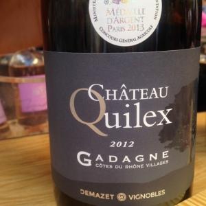 Vallée du Rhône - Côtes du Rhône Villages Gadagne - Demazet Vignobles - Domaine Quilex - 2012