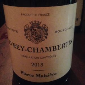 Bourgogne - Gevrey-Chambertin - Pierre Maizière - 2013