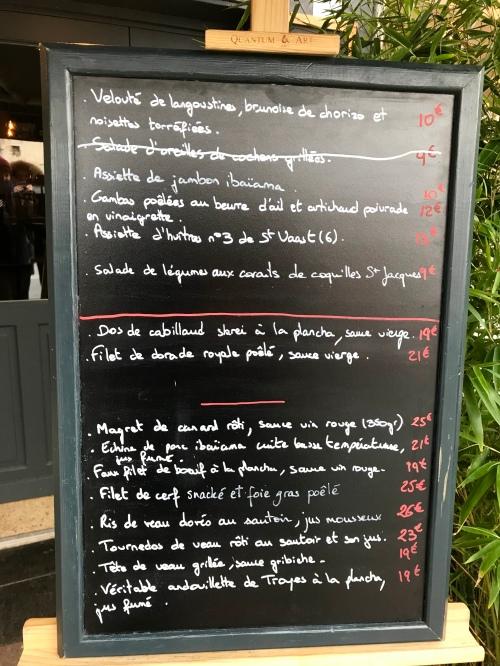 Honfleur - Restaurant - Le Fleuron - Carte du soir