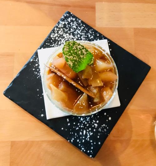 Honfleur - Restaurant - Le Fleuron - Panacotta Pommes