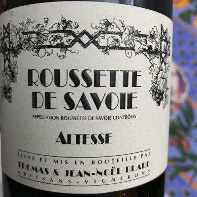 Savoie - Thomas et Jean-Noel Blard - Roussette de savoie - 2017